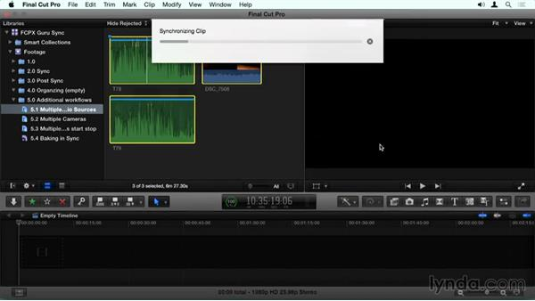 Multiple audio sources to a single track: Final Cut Pro X Guru: Sync Sound Workflow