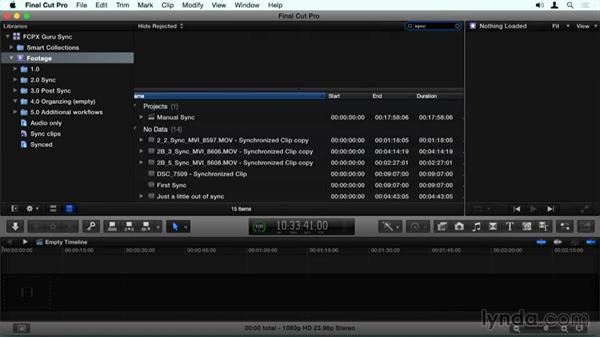 Building a Smart Collection of sync clips: Final Cut Pro X Guru: Sync Sound Workflow