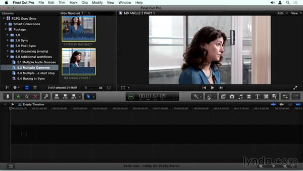 Multicam sync: Final Cut Pro X Guru: Sync Sound Workflow