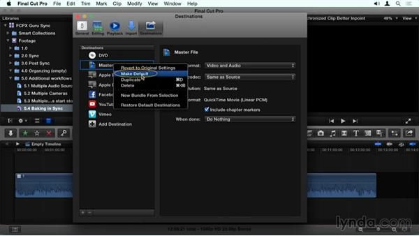 Baking in sync: Final Cut Pro X Guru: Sync Sound Workflow