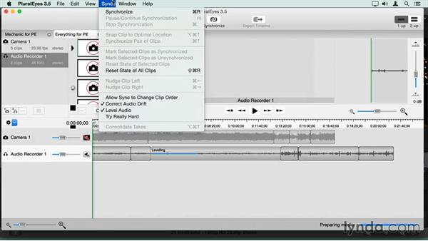 Syncing multiple clips in PluralEyes in one step: Final Cut Pro X Guru: Sync Sound Workflow