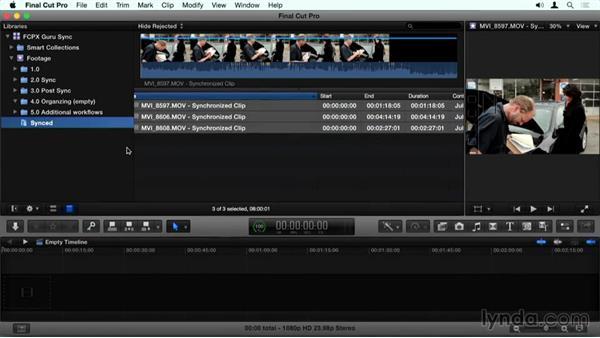 Using keywords to separate sync clips: Final Cut Pro X Guru: Sync Sound Workflow