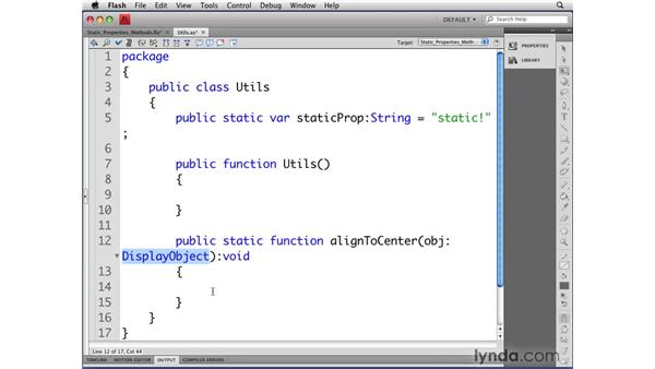 Understanding static properties and methods: Flash CS4 Professional: Object-Oriented Programming