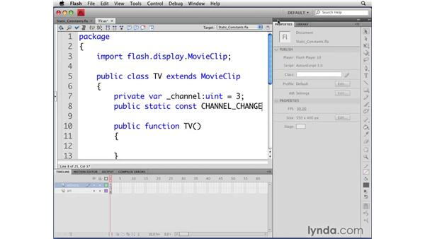 Using static constants: Flash CS4 Professional: Object-Oriented Programming