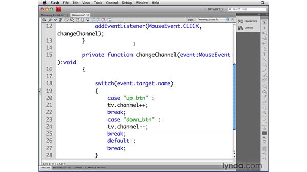 Throwing errors: Flash CS4 Professional: Object-Oriented Programming