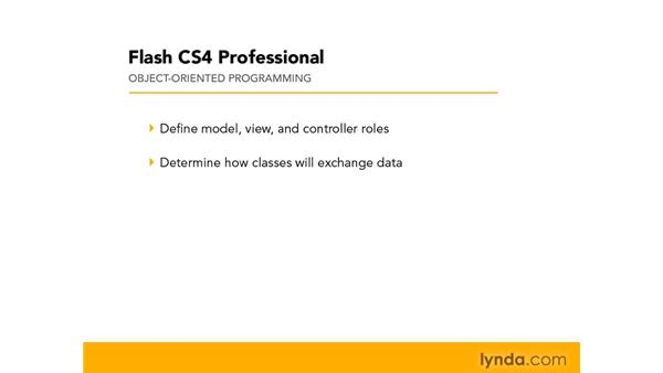 Planning an MVC application: Flash CS4 Professional: Object-Oriented Programming