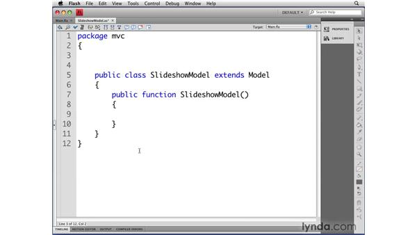 Extending the Model class: Flash CS4 Professional: Object-Oriented Programming