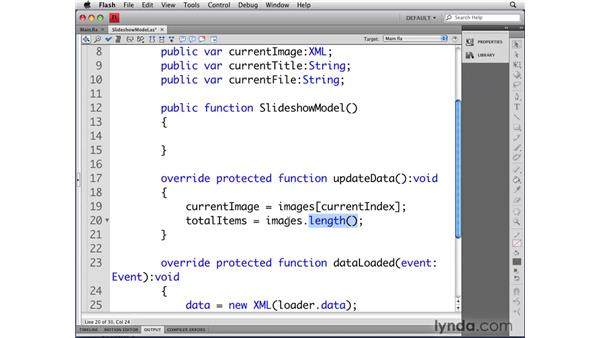 Working with external XML data: Flash CS4 Professional: Object-Oriented Programming