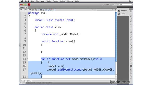 Defining the View class: Flash CS4 Professional: Object-Oriented Programming
