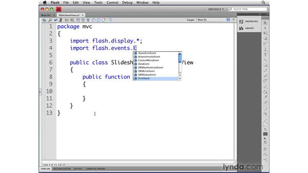 Creating the SlideShowView class: Flash CS4 Professional: Object-Oriented Programming