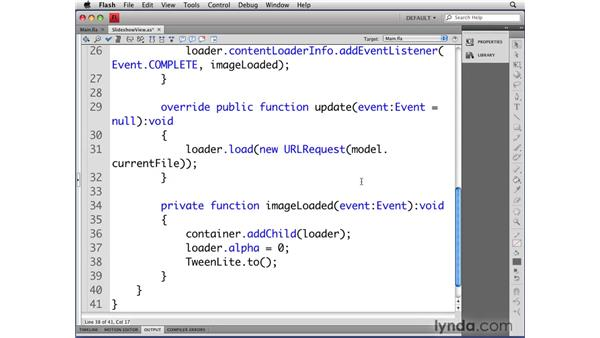 Using TweenLite to animate images: Flash CS4 Professional: Object-Oriented Programming