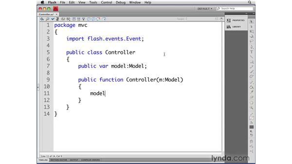 Defining the Controller class: Flash CS4 Professional: Object-Oriented Programming
