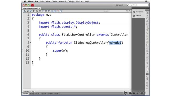 Creating the SlideShowController class: Flash CS4 Professional: Object-Oriented Programming