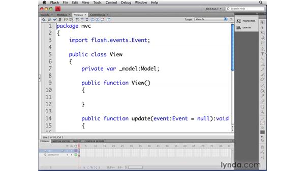 Creating other applications using the MVC pattern: Flash CS4 Professional: Object-Oriented Programming