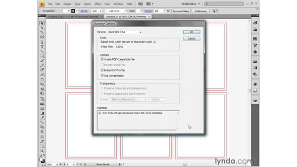 Saving a document: Illustrator CS4 One-on-One: Fundamentals