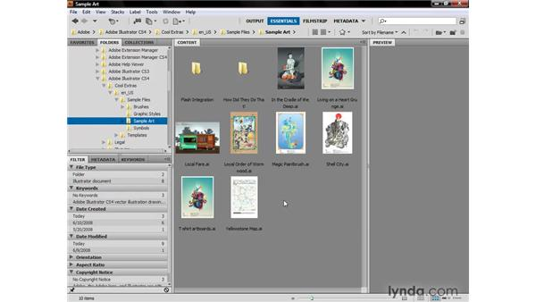 Introducing Adobe Bridge: Illustrator CS4 One-on-One: Fundamentals