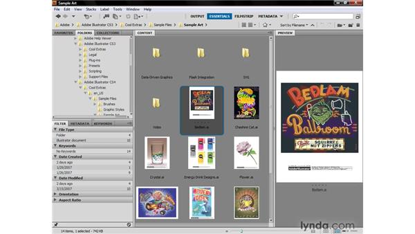 Navigating inside Bridge: Illustrator CS4 One-on-One: Fundamentals