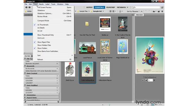 Previewing and collecting: Illustrator CS4 One-on-One: Fundamentals