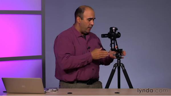 Using a specialty tripod head to capture more area: Using Panoramic Photos for Motion Graphics and Visual Effects