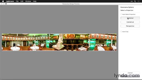Finishing the image by sending from Lightroom to Photoshop: Using Panoramic Photos for Motion Graphics and Visual Effects