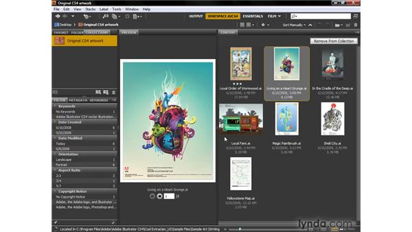 Cool Bridge tricks: Illustrator CS4 One-on-One: Fundamentals