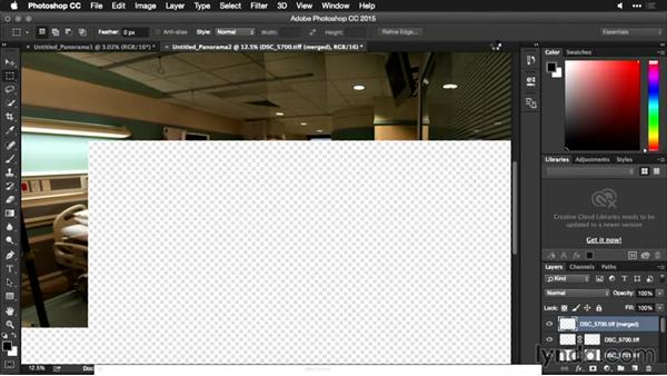 Exploring merging methods: Using Panoramic Photos for Motion Graphics and Visual Effects