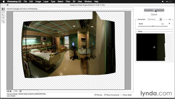 Removing distortion with the Adaptive Wide Angle command: Using Panoramic Photos for Motion Graphics and Visual Effects