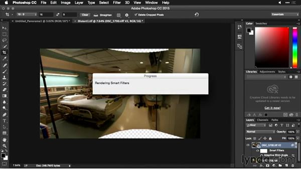 Filling in empty areas with Content Aware Fill: Using Panoramic Photos for Motion Graphics and Visual Effects