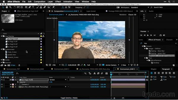 Advanced camera options for depth and focus: Using Panoramic Photos for Motion Graphics and Visual Effects