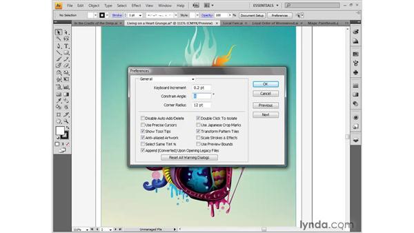 Keyboard increments: Illustrator CS4 One-on-One: Fundamentals