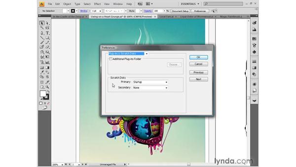 Scratch disks: Illustrator CS4 One-on-One: Fundamentals