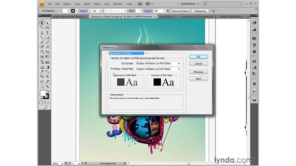Changing the user interface and setting Appearance of Black: Illustrator CS4 One-on-One: Fundamentals