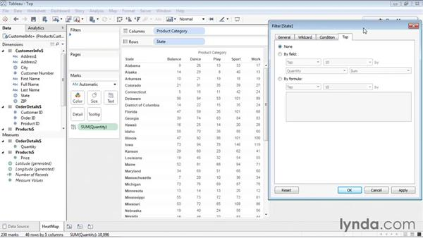 Creating a top filter: Tableau 9 Essential Training