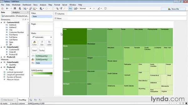 Editing, clearing, and deleting filters: Tableau 9 Essential Training