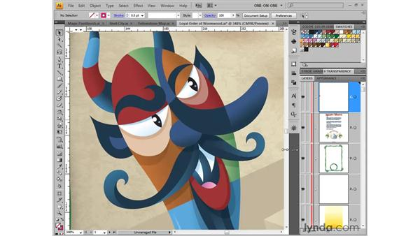 Nudging the screen image: Illustrator CS4 One-on-One: Fundamentals