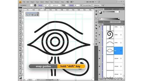 Creating ruler guides: Illustrator CS4 One-on-One: Fundamentals