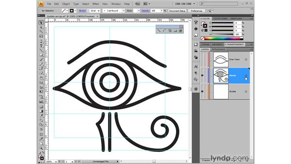 Making a tracing template: Illustrator CS4 One-on-One: Fundamentals