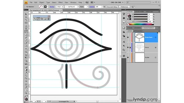 Drawing a continuous arc: Illustrator CS4 One-on-One: Fundamentals