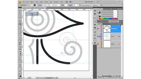 Drawing a looping spiral: Illustrator CS4 One-on-One: Fundamentals