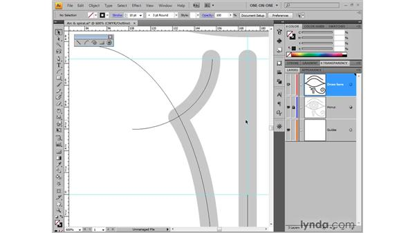 Cutting lines with the Scissors tool: Illustrator CS4 One-on-One: Fundamentals