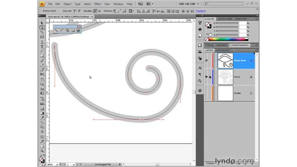 Joining open paths: Illustrator CS4 One-on-One: Fundamentals