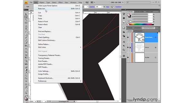 Aligning and joining points: Illustrator CS4 One-on-One: Fundamentals