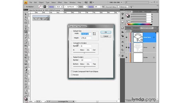 Drawing concentric circles: Illustrator CS4 One-on-One: Fundamentals
