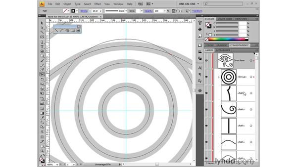 Cleaning up overlapping segments: Illustrator CS4 One-on-One: Fundamentals