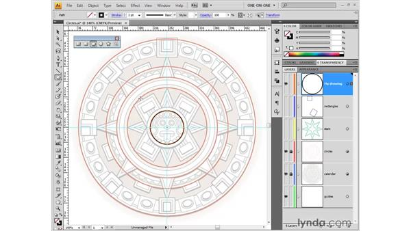 Drawing circles: Illustrator CS4 One-on-One: Fundamentals