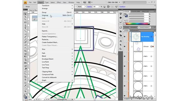 Grouping and ungrouping: Illustrator CS4 One-on-One: Fundamentals