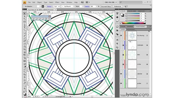 Combining simple shapes into complex ones: Illustrator CS4 One-on-One: Fundamentals