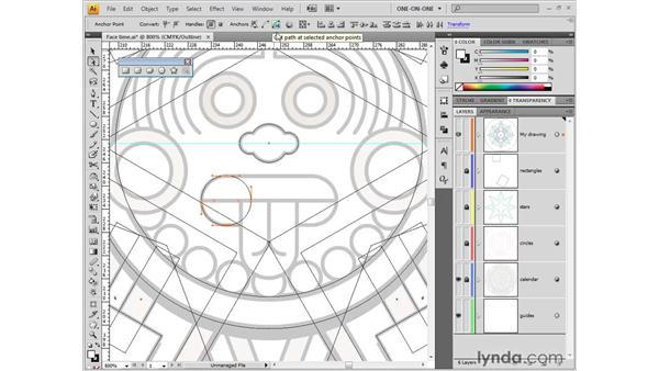 Cutting and connecting with Scissors and Join: Illustrator CS4 One-on-One: Fundamentals