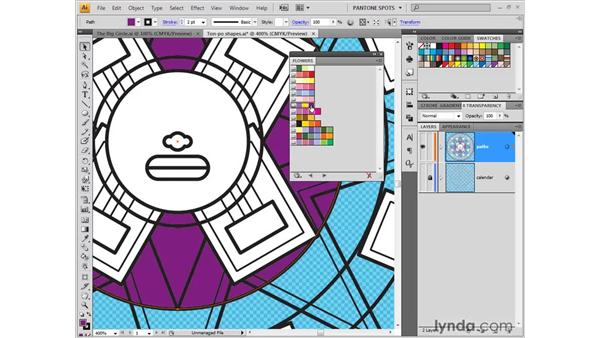 Color libraries and sliders: Illustrator CS4 One-on-One: Fundamentals