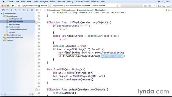 Navigating to an entered URL: Building and Distributing a Simple App with Xcode and Swift